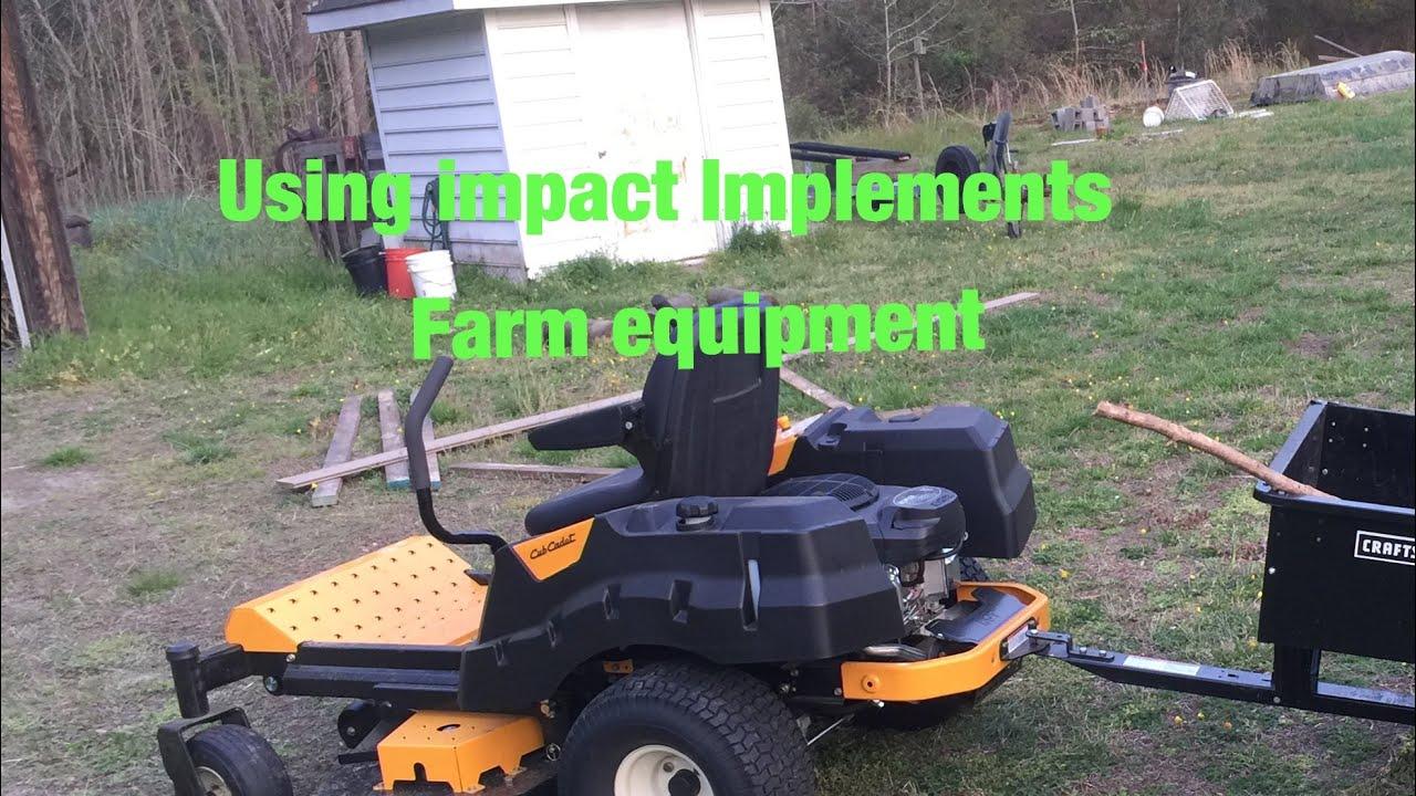 Using impact implements farm equipment for my hemp grow