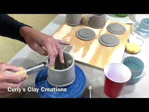 Making Ceramic Lidded Ashtrays