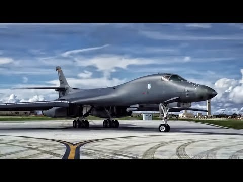 B-1 Bomber Strike Package Launch From U.S. Airbase In Guam