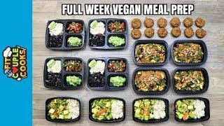 FULL WEEK VEGAN MEAL PREP ($6/Day) How to Meal Prep - Ep. 71 thumbnail