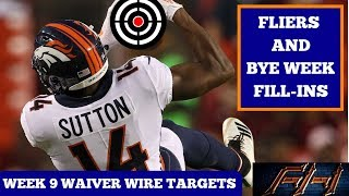 2018 Fantasy Football Advice  - Week 9 Top Waiver Wire Targets - Players To Target