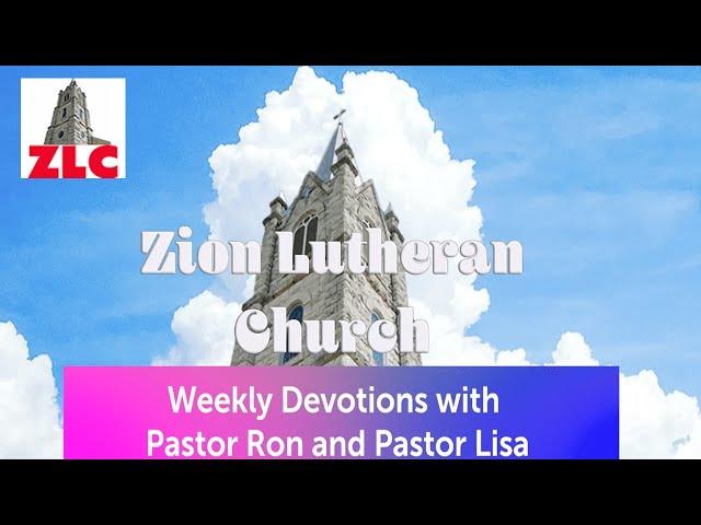 Devotion - 20200729 - Pastor Ron