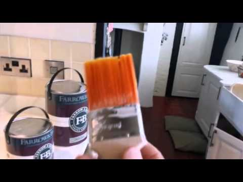 How to paint kitchen units using Farrow And Ball