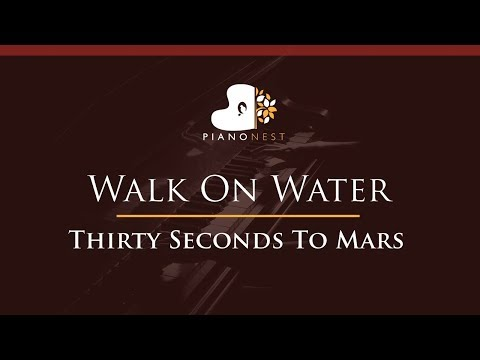 Thirty Seconds To Mars - Walk On Water - HIGHER Key (Piano Karaoke / Sing Along)