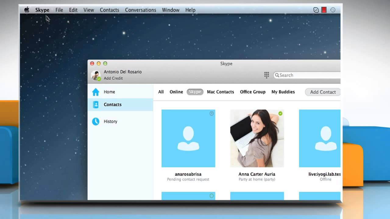 how to delete skype contacts on mac