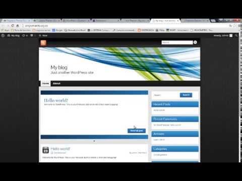 tema gratuito para wordpress negocios no youtube - YouTube
