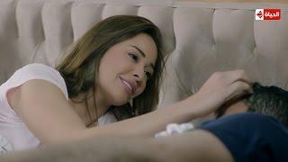 مسلسل يوميات زوجة مفروسة أوي - جربي تصحي جوزك بحب وحنية وشوفي رد فعله