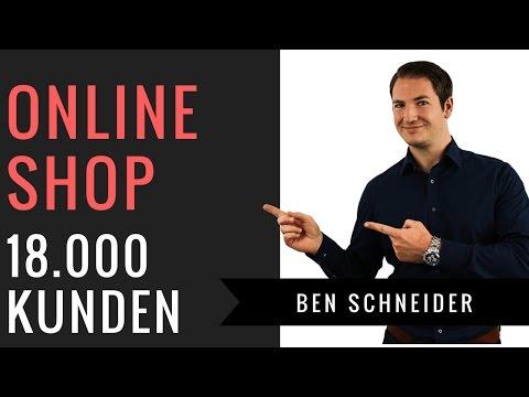 Onlineshop Umsatzrakete - Über 18.000 Kunden gewonnen - Ben Schneider HACKSathon Speaker