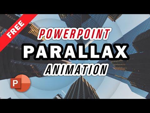 Circle Parallax Animation PowerPoint Templates