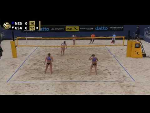 women beach volleyball van der Vlist/van Gestel vs Hester/Ledoux cincinnati 2016