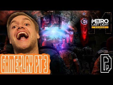 ESCAPE THE NAZIS! METRO LAST LIGHT PT 3 GAMEPLAY PLAYTHROUGH WALKTHROUGH GAMING REVIEW