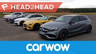 Ultimate Mercedes-AMG Drag Race: six cars... 2983hp... one winner! | Head2Head(Mercedes-AMG makes some of the best engines in the world. Each is hand built under the one man one engine philosophy, but which is best? The 2.0-litre ..., 2016-11-19T09:00:03.000Z)