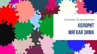 Цветовые сочетания для колорита Мягкая Зима. Комбинатор цвета Татьяны Маменко