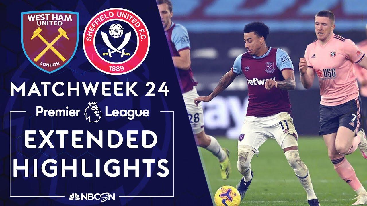 West Ham v. Sheffield United | PREMIER LEAGUE HIGHLIGHTS | 2/15/2021 | NBC Sports