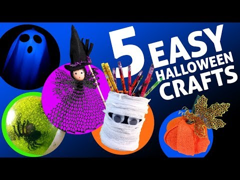 5 EASY HALLOWEEN CRAFTS AND DECORATIONS