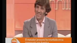 Torero Juan José Padilla Entrevista Mira la Vida