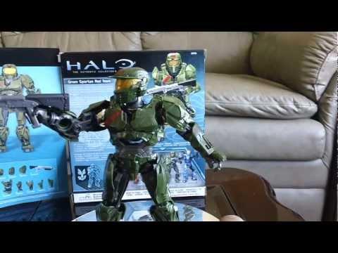 Halo Mega Bloks Green Spartan Red Team Magnetic Figure Set #29765 [HD]