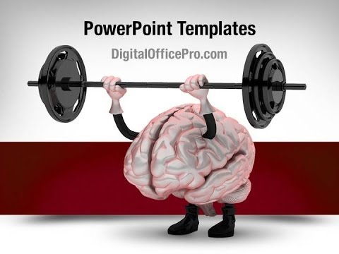 Brain Exercise PowerPoint Template Backgrounds DigitalOfficePro