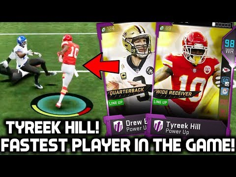 FASTEST PLAYER IN THE GAME! TYREEK HILL BURNS DEFENDERS! Madden 19 Ultimate Team