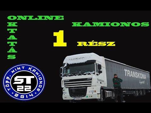 13.A kamionos.Online sofőr betanítás kezdőknek.1.rész.