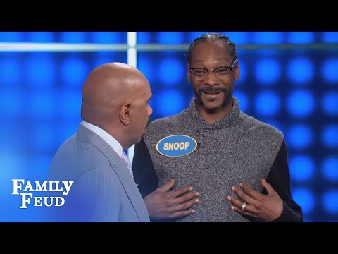 Thumbnail: SNOOP'S answer goes UP IN SMOKE! | Celebrity Family Feud | OUTTAKE