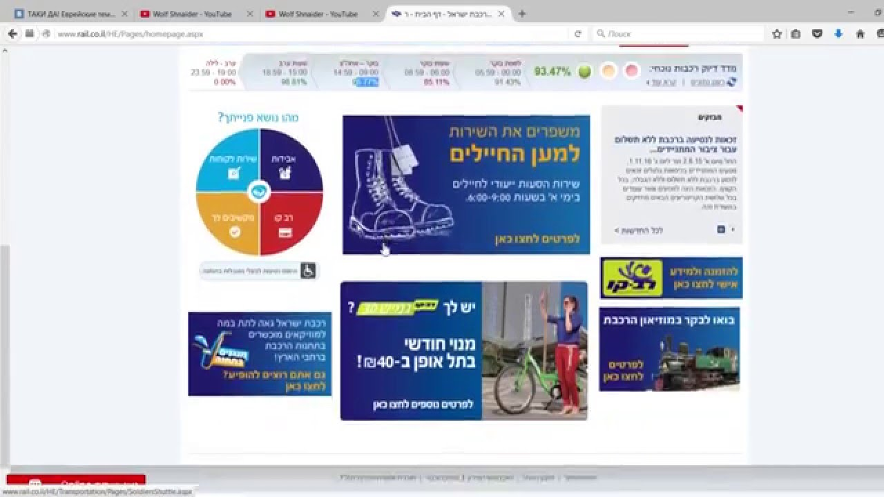 расписание поездов в израиле на русском языке