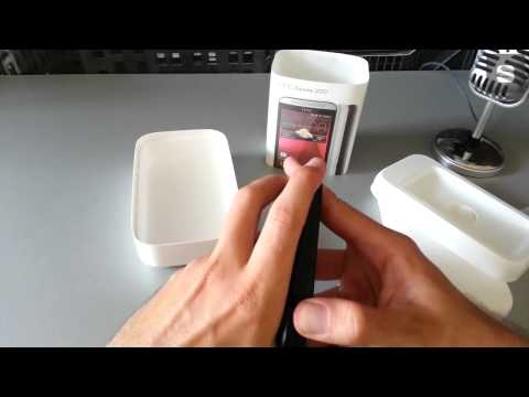 HTC Desire 200 Unboxing video