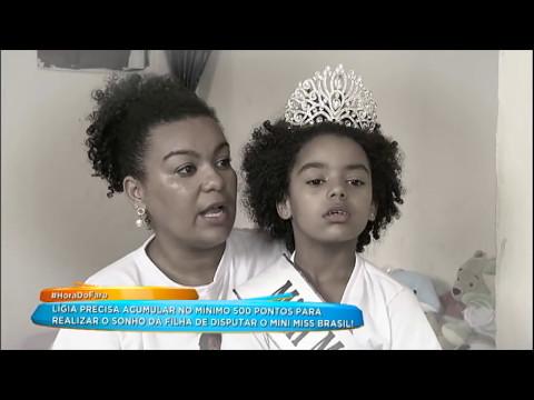 Mãe Vence Desafio No Hora Do Faro Para Realizar Sonho De Mini Miss