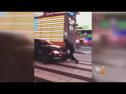 Search On For Car That Hit Police In Times Square