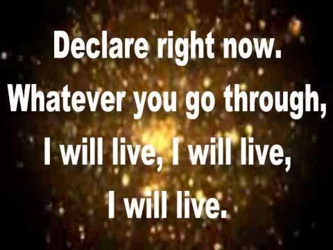 I Will Live (Lyrics) By Charles Jenkins & New Fellowship Choir