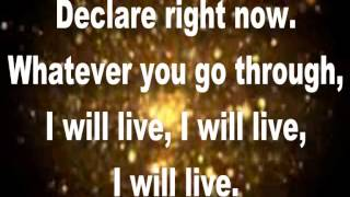 I Will Live (Lyrics) By Charles Jenkins & New Fellowship Choir