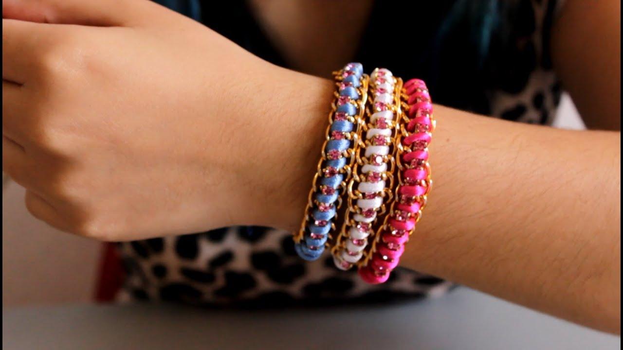 ideas para hacer pulseras diy accesorios de moda hablobajito youtube