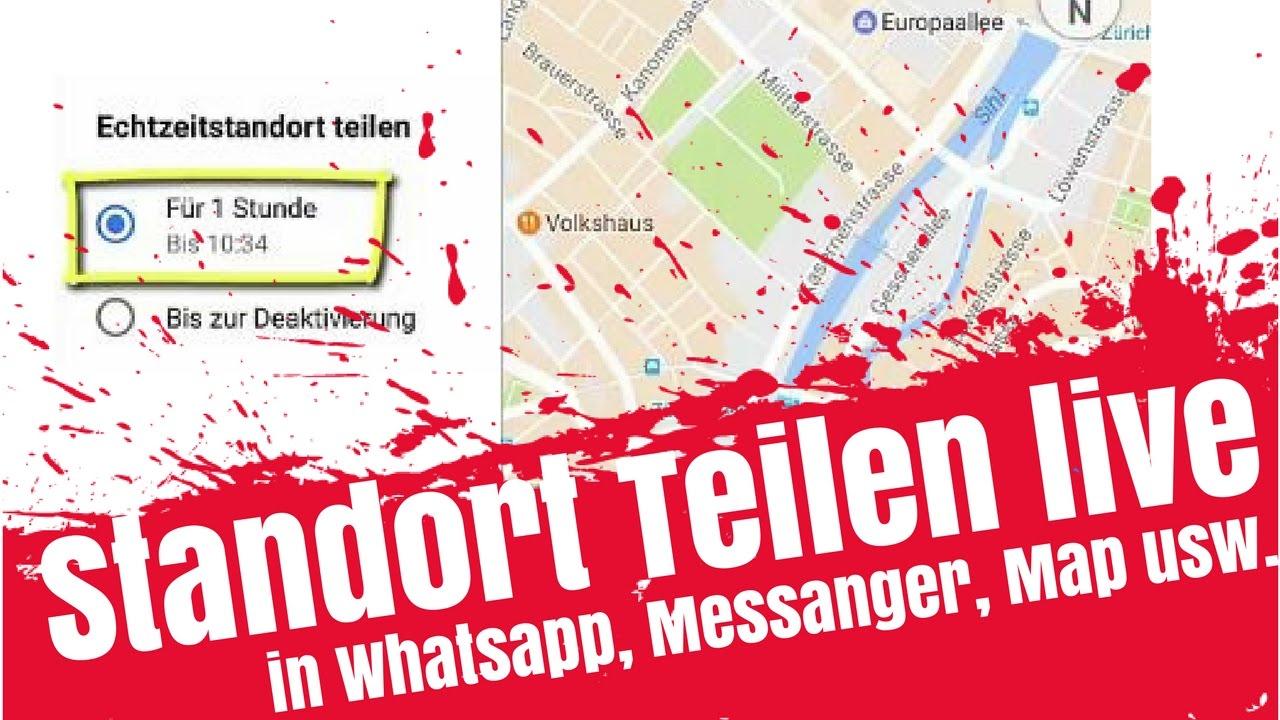 Aktueller Standort Teilen Live Dein Standort Teilen Mit Maps Auf Iphone Whatsapp Androide Usw
