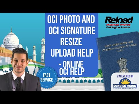 Resize photo & signature for your OCI Application - Picture