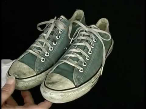 e1fec0989e78 Old Vintage USA-MADE Converse All Star Chuck Taylor green shoes well worn  at collectornet.net