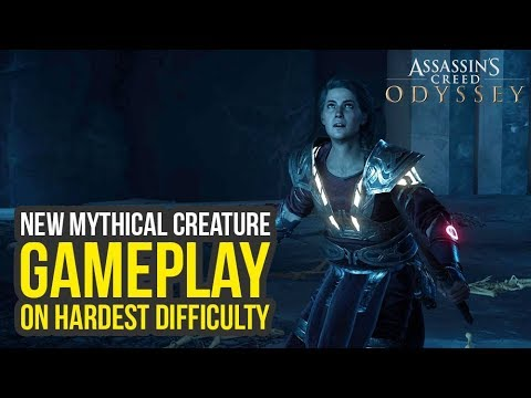Assassin's Creed Odyssey Fate of Atlantis Episode 3 - New Mythical Creature  On Nightmare (AC Odyssey