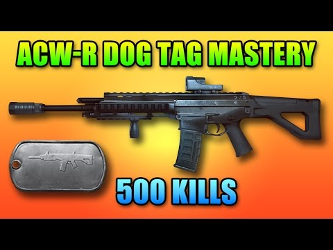 BF4 ACW-R Mastery Dog Tag | 500 Kills Battlefield 4 Carbine Gameplay
