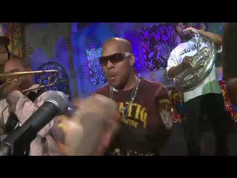 "Rebirth Brass Band performs ""A.P.  Touro"" on News With a Twist"