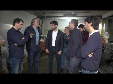 GABRIEL KATOPODIS Y FACUNDO MOYANO RECORRIERON LA METALURGICA EG SRL WEB