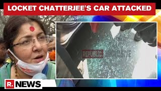 BJP Leader Locket Chatterjee's Car Vandalised By Mobs In WB's Hoogly During 4th Phase Of Voting