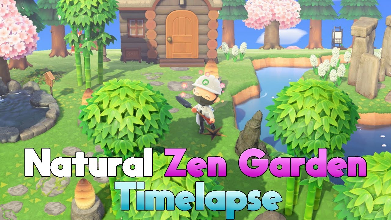 Creating A Beautiful Natural Zen Garden Timelapse Animal Crossing New Horizons Youtube