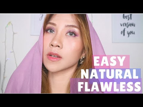 SOFT & FLAWLESS LOOK TUTORIAL FOR LEBARAN! SEMUA PRODUK LOKAL! | Natya Shina