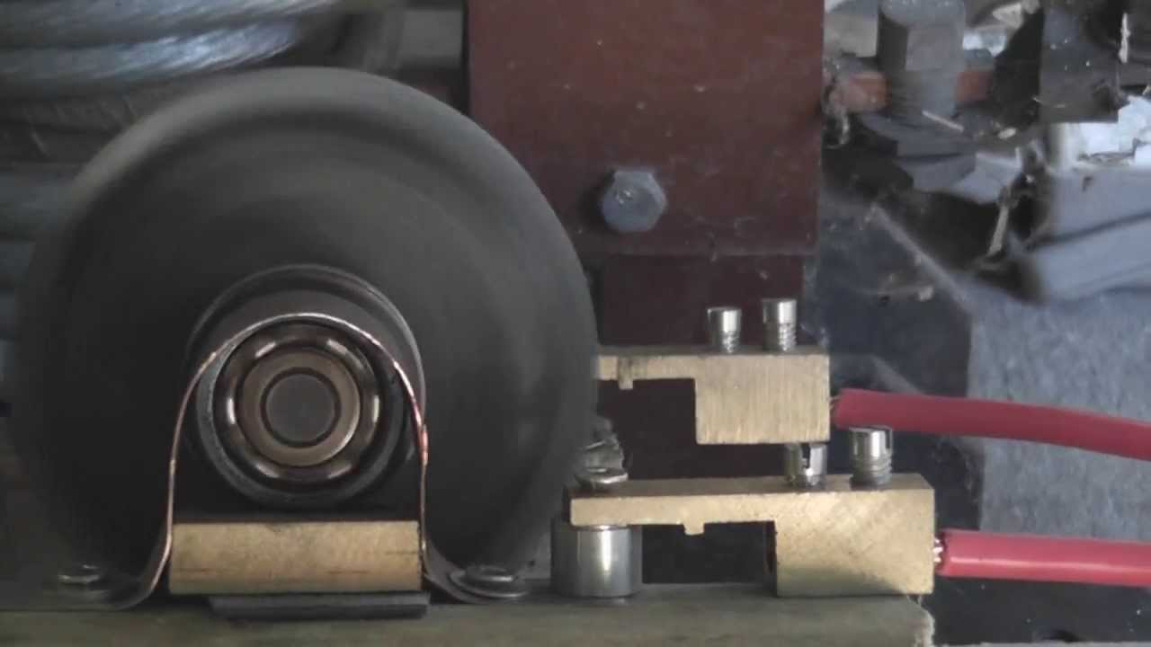 Roller Bearing Electric Motor with no field windings - YouTube