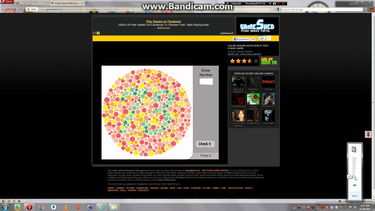 Let's play colour vision test- it is a scary game