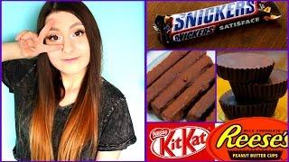 ¡Haz tus propios chocolates Snickers, Kitkat y Reese