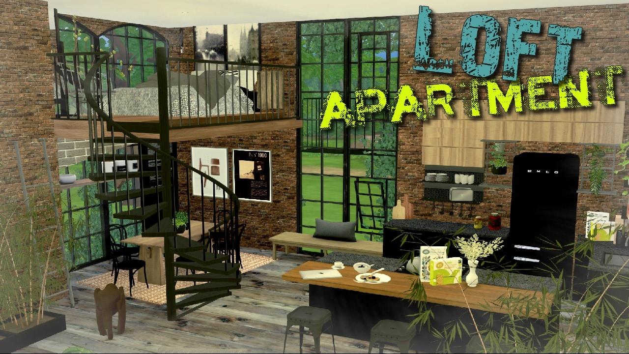 The Sims 4 Loft Apartment Youtube