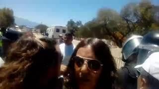 Video: Escenas de enfrentamiento entre la policía y docentes en Cafayate