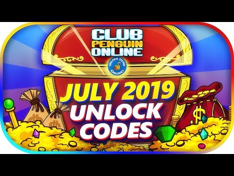 All Working UNLOCK CODES (FREE 68K COINS) July 2019 | Club Penguin Online