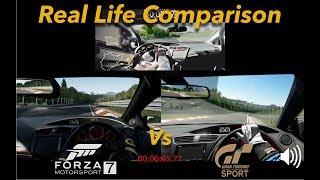 Forza Motorsport 7 Vs Gran Turismo Sport Vs Real Life