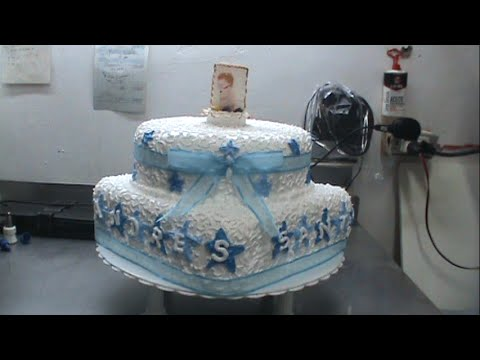 Decoracion de torta para bautizo - YouTube